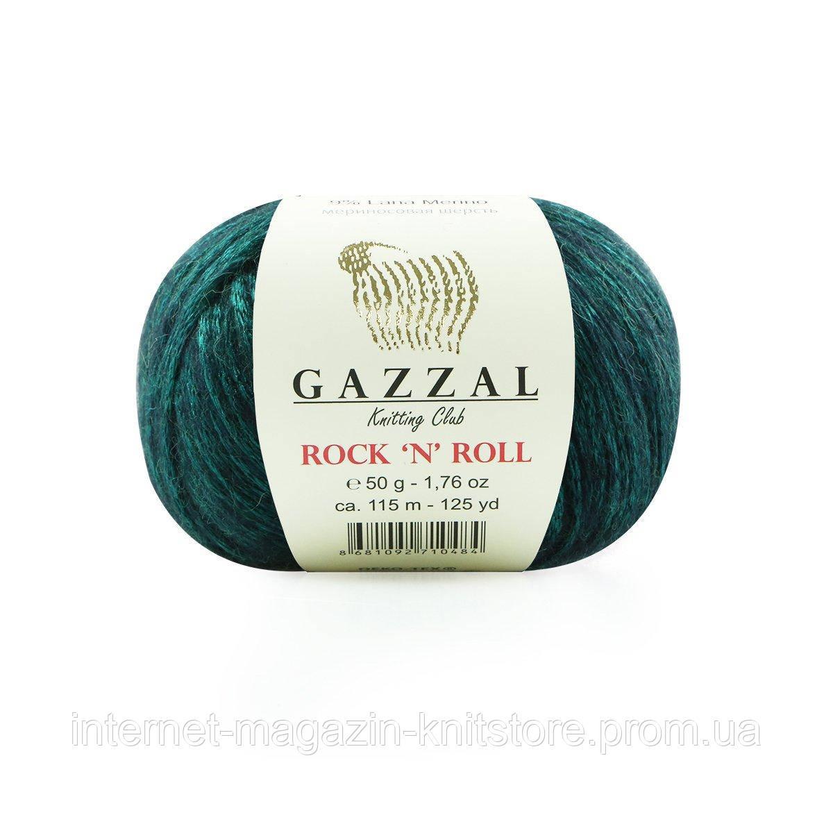 Пряжа Gazzal Rock n Roll зеленый