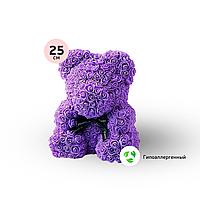 Мишка Тедди из 3D роз Zupo Crafts 25 см в подарочной упаковке   Подарок для любимой девушки