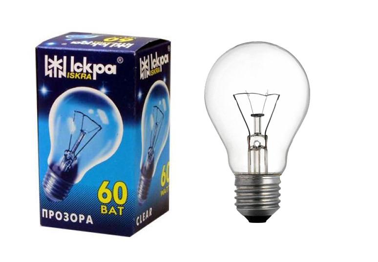 ІСКРА А50 (60 Вт) Лампа розжарювання в індивідуальній упаковці
