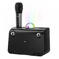 Портативная колонка с Bluetooth и караоке HOCO BS41 с микрофоном, черная