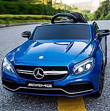 Детский электромобиль M 4010 EBLR-3, Mercedes-Benz AMG C63S  синий