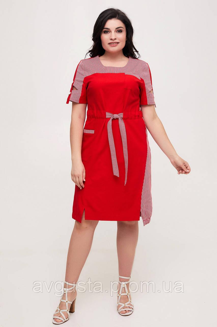 Платье ТМ ALL POSA Земфира красный 50 (100572)