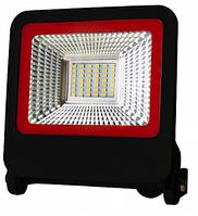 Прожектор Euroelectric LED SMD з радіатором NEW 30W 6500K (LED-FL-30(black)new)