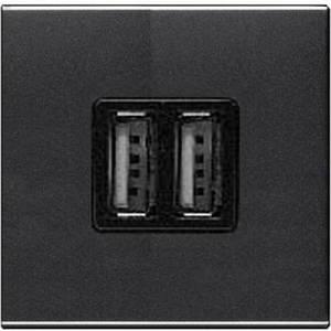 Розетка USB для зарядки, антрацит, Zenit ABB N2285 AN