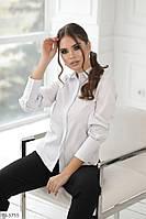 Классическая красивая женская рубашка белая с длинными рукавами р-ры 42,44,46 арт 4142/1