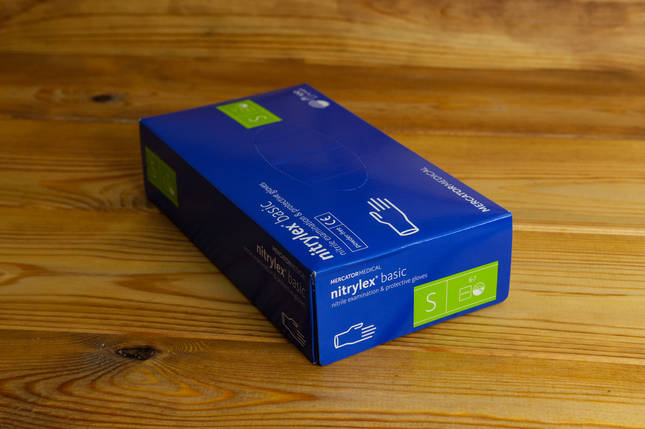 Перчатки нитриловые Mercator Medical, цвет Синий, Размер S (100 шт.), фото 2