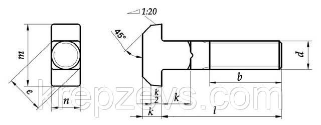 Болт М48 Т-образный, ГОСТ 13152-67, DIN 186, DIN 188, DIN 261   Фотографии принадлежат  предприятию ЗЕВС®