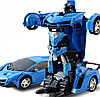 Машинка Трансформер Lamborghini Car Robot Size 18 синя, радіокерована машинка з пультом