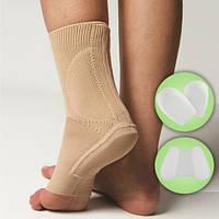 Бандаж на голеностопный сустав с боковыми и подошвенной силиконовыми вкладками - Ersamed REF-721