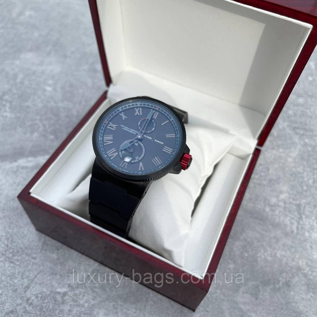 Годинники наручні чоловічі Ulysse Nardin All Black automatic