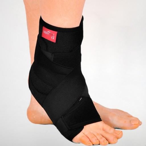 Бандаж неопреновый, эластичный на голеностопный сустав с фиксирующим ремнем - Ersamed ERSA-212