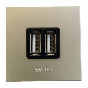 Розетка USB для зарядки, шампань, Zenit ABB N2285 CV