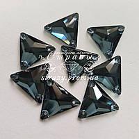 Стразы пришивные Lux Треугольники 16мм. Denim Blue