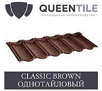 QUEENTILE CLASSIC BROWN Композитна черепиця 1-тайловый лист, фото 1