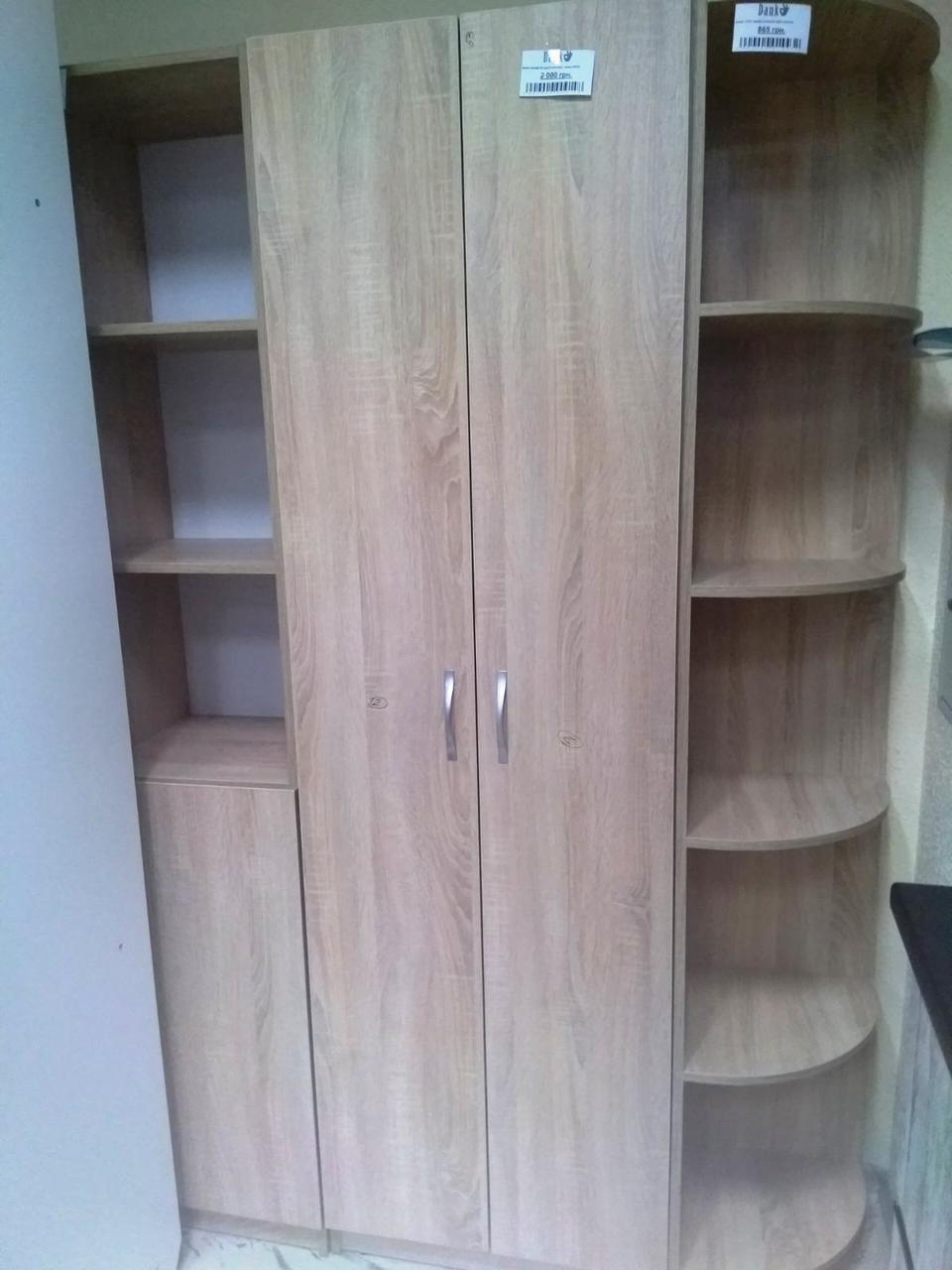 Офисный шкаф 200*60*35 см Данко, шкаф для одежды, ДСП дуб сонома