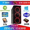 Отличный ПК ZEVS PC 11630U i7 2600 + GTX 1070TI 8GB