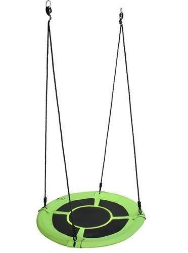 Гойдалка кругла гніздо лелеки підвісна 100см зелена