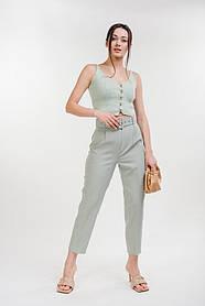 Жіночі класичні брюки оливкові