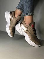 Женские кожаные кроссовки  в наличии. Размер 36-41, фото 1