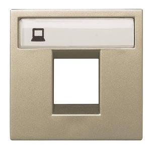Накладка компьютерной или телефонной розеток, шампань, Zenit ABB N2218.1 CV