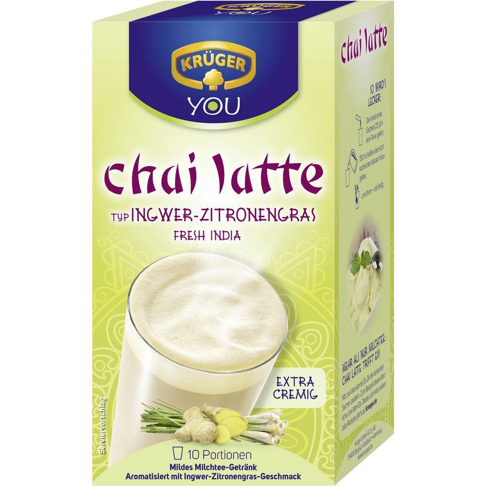 Молочний чай Kruger Chai Latte Ingwer Zitronen 10s 140 g