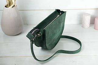 Сумка женская. Кожаная сумочка Фуксия, Винтажная кожа, цвет Зеленый, фото 2