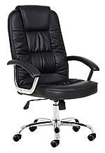Офисное рабочее кресло на колесиках для руководителя NEO9947 екокожа Черное
