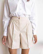 Жіночі шорти, коттон, р-р 42; 44; 46 (бежевий)