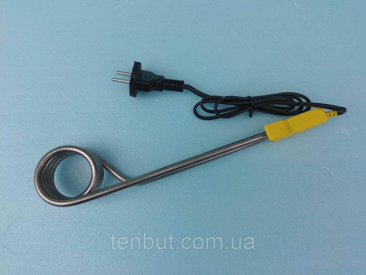 Электрокипятильник бытовой 2.0 кВт. / 250 В. из нержавеющей стали . Украина .