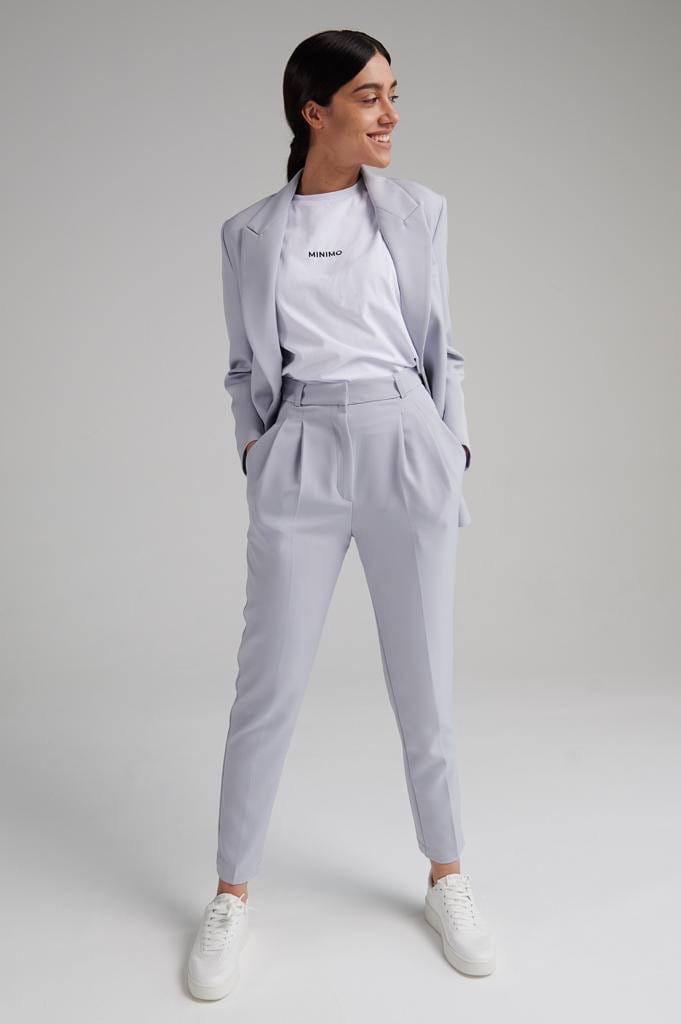 Женский костюм, костюмка, р-р 42-44; 46-48 (серый)