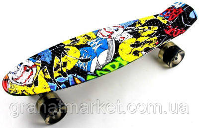 Penny Board Cool Draft Joker Светящиеся колеса