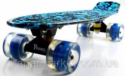 Penny Board Military 2 Светящиеся колеса