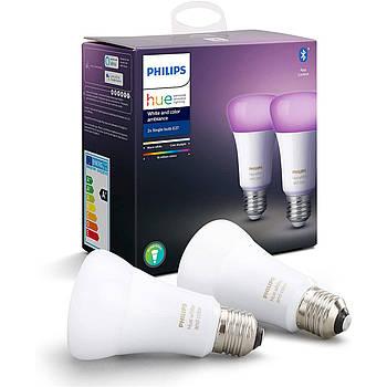 Philips Hue White And Color Ambiance E27 9W  2шт 806 lm Apple HomeKit