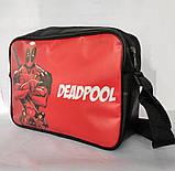 """Сумка формату А4 через плече """"Deadpool"""", фото 3"""