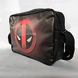 """Сумка формату А4 через плече """"Deadpool"""", фото 4"""