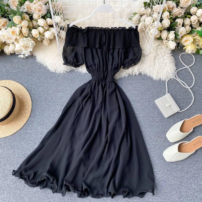 Жіноче шифонова сукня в чорному кольорі