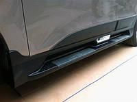 Hyundai IX-35 2010-2015 гг. Боковые пороги Niken OEM (2 шт, пластик)