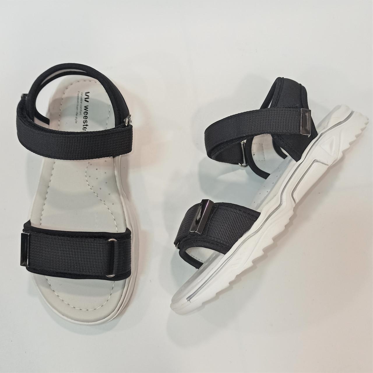 Спортивные черные босножки, Weеstep размер 36 37