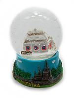 Новорічний куля зі снігом Біла хата 25289
