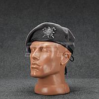 Берет Горной пехоты Эдельвейс капля темно-серый