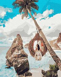 Картина раскраска Brushme Девушка на райских островах (PGX37603) 40 х 50 см