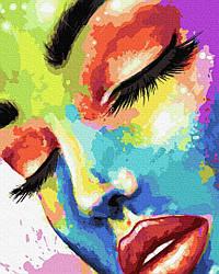 Живопись по номерам Brushme Женщина в красках (PGX37607) 40 х 50 см