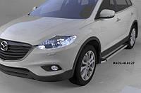 Mazda CX-9 2007-2016 гг. Боковые пороги Rainbow (2 шт., алюминий)