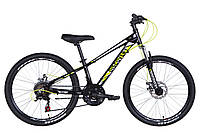 """Детский велосипед Discovery Qube DD 24"""" черно-желтый"""