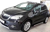 Opel Mokka 2012↗ гг. Боковые пороги Maya V1 (2 шт., алюминий)