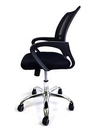 Кресло офисное на колесиках с подлокотниками Comfort C012 сетка Черный, фото 2