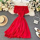 Женское шифоновое платье в красном цвете, фото 4