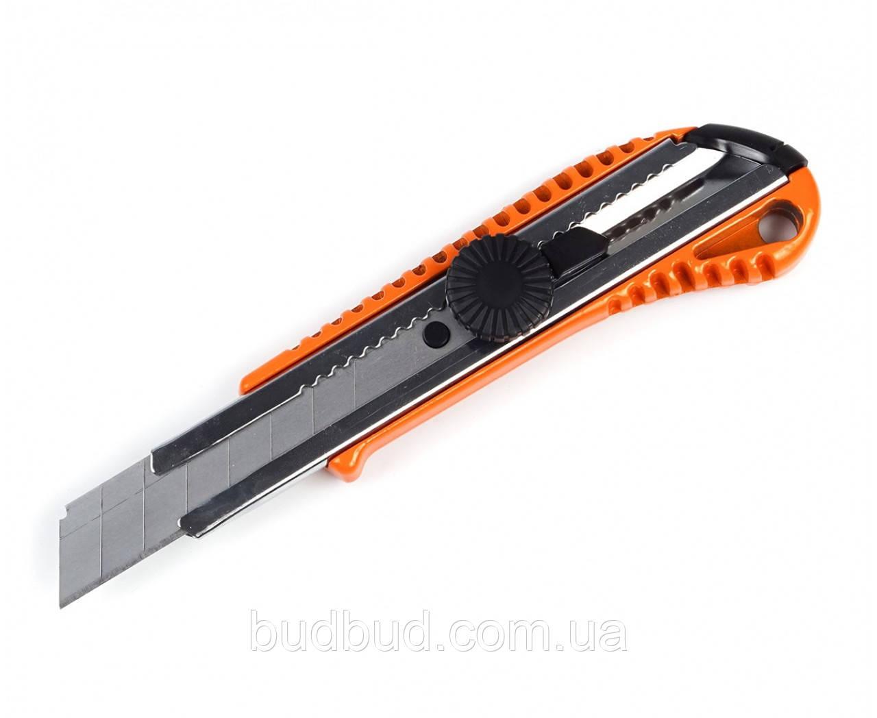 Нож металлический с винтовым замком 18 мм (23-006) POLAX