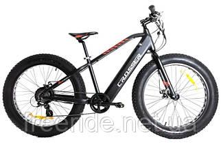 Электровелосипед Crosser E-Fatbike 26 (Al) li-ion 13А 36V / 350W черно-красный