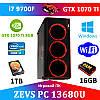 Супер сучасний ПК ZEVS PC 13680U i7 9700F + GTX 1070TI 8GB +16GB DDR4 + Ігрова клавіатура